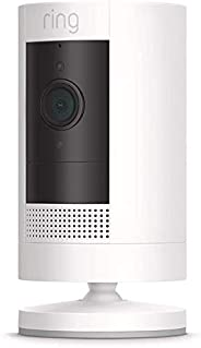 Ring Stick-Up Battery Cam -Wi-Fi Smart Home Security Camera White- Rechargeable Battery- Two way talk - Full