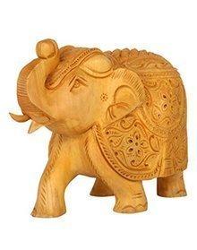 Zap Impex handgeschnitzt Holz Floral Sammlerstück Skulptur Elefant Figur-Tisch & Home Dekorationen, 10,2 cm (Sammlerstücke Elefanten Figuren)