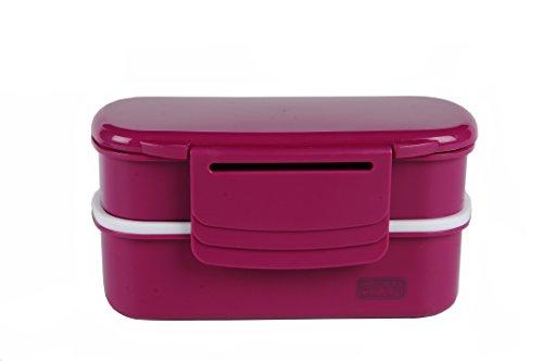 Polar Gear Bento-Lunchbox mit Kühlpack, 1,1Liter, Beerenfarben, Plastik, Beere, 20 x 11 x 10 cm (Polar Lunch-box Gear)