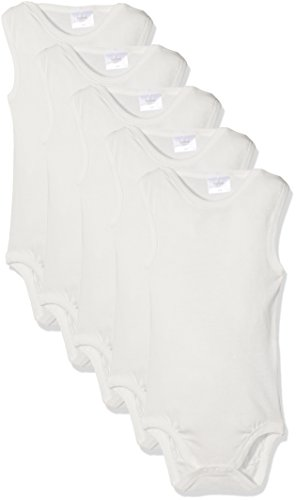 Twins Unisexo, Body para Bebés, pack de 5, Blanco (11-0601 Weiss), 80