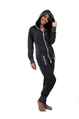 eron-apparel-herren-strampelanzug-kariert-schwarz-dunkelgrau-m