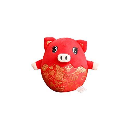 (Neue jahr maskottchen plüsch schwein puppe floral bedruckte gefüllte glücksschwein puppe spielzeug für party dekoration chinesisches neues jahr kleines geschenk)