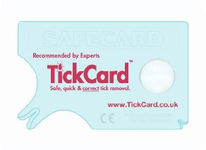 TickCard Tick Remover Fits into Your Wallet 1