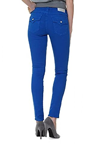 True Religion Jean Skinny SERENA CHESSBOARD CRYSTA, Couleur: Bleu, Taille: 23