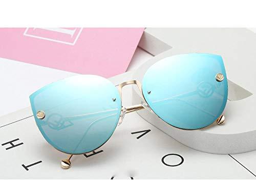 Klassisches Retro-Outdoor-EssentialLuxusmarke Designer Sonnenbrillen Damenmodelle rahmenlose Verlaufsbrille Damenmodelle UV400_blue