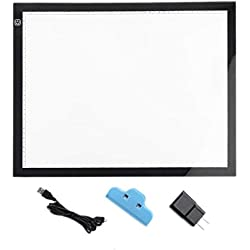 Ruirain-FR A3 Portable LED Drawing Board Eyesight Protection Touch Dimmable Tracing Table Light Pad Box for 2D Animation Sketching