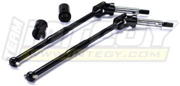 Integy RC Model Hop-ups T3652 Steel Universal Drive Shaft (2) for T-Maxx & T-Maxx 2.5 | Qualité Fine