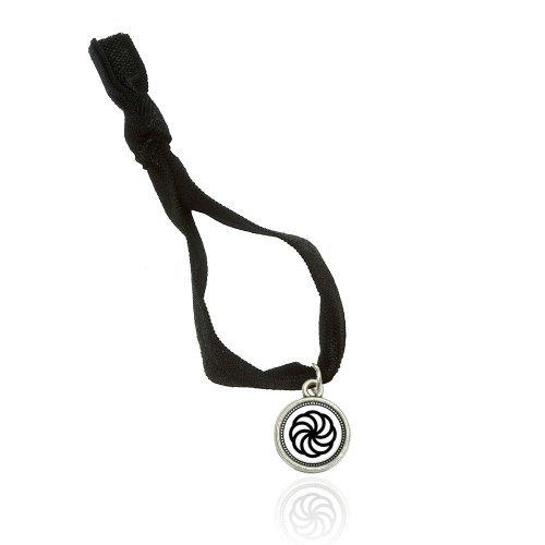 Made on Terra Armenian Eternity Bracelet Double Fold Over Stretchy Elastic No Crease Hair Tie With Charm