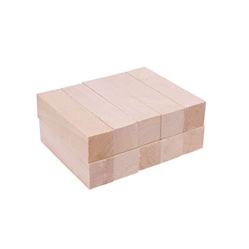 SUPVOX 10 piezas de bloques de talla kit de tallado de madera maciza kit de talla de tilo grande principiantes bloque de talla de madera para niños adultos principiantes