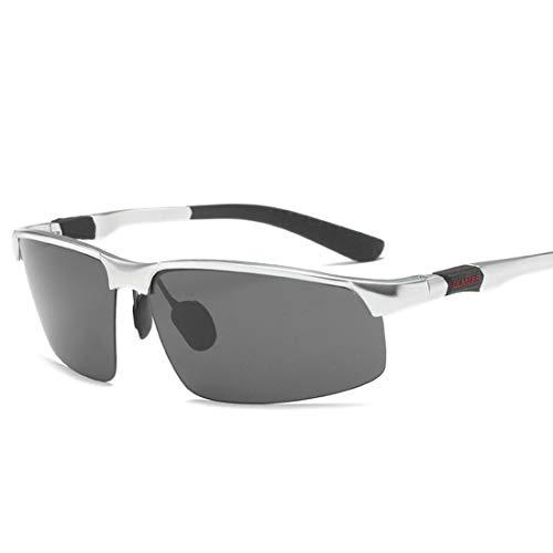 FELICIPP Sonnenbrille Männer Polarisator Aluminium Magnesium Radfahren Drive Brille Sonnenbrille Bewegung (Size : A002)