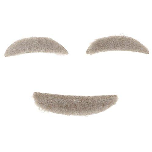 Gazechimp Alter Mann Augenbrauen Schnurrbärte Cosplay Party Kostüm Accessoire für Karneval Halloween Fasching