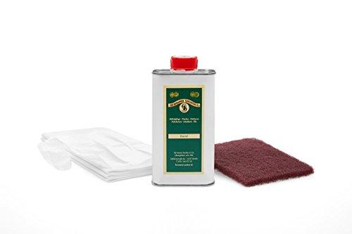 Holzöl farblos für innen im Set 250ml Leinöl Arbeitsplattenöl Möbelöl zum Ölen für Tische Möbel aus Eiche Buche Kernbuche Wildeiche Lärche