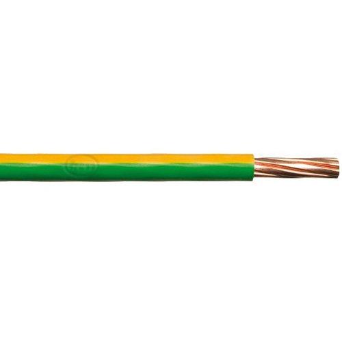 Bulk Hardware BH01518 6,0 mm Einadrige Erdkabel 6491X, 5 Meter Gelb/Grün, Weiß