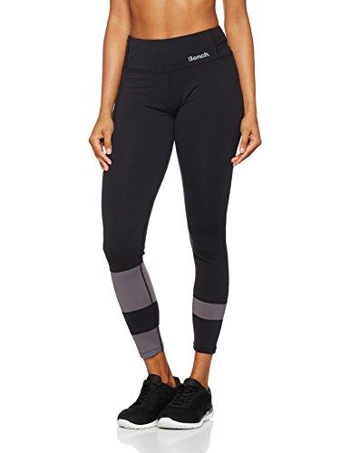 Bench Damen Stripe B Leggings, Black, S (Leggings Black Stripe)
