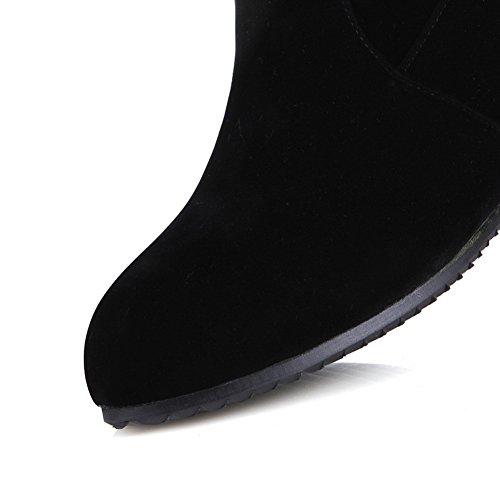 Balamasa - Pantoufles Noires À La Cheville Pour Femme