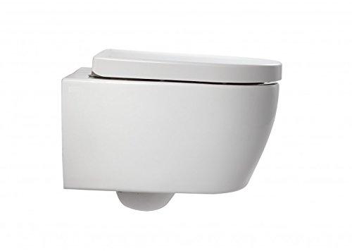 Bernstein Badshop Spülrandloses Wand-Hänge WC NANO NT2038 - inkl. Softclose-Deckel - kurze Ausführung