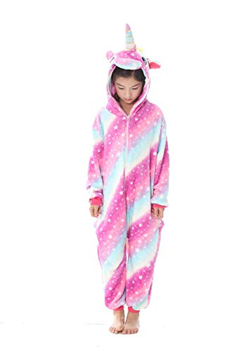 Cartoon Cosplay Kostüm - Jumpsuit Nachtwäsche Tier Einhorn Pyjamas Cartoon Kostüm Kinder Schlafanzug Unisex Fasching Cosplay Karneval