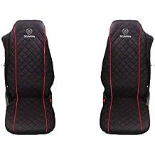 2 fundas de asiento para camión Aviton Ltd, en color negro