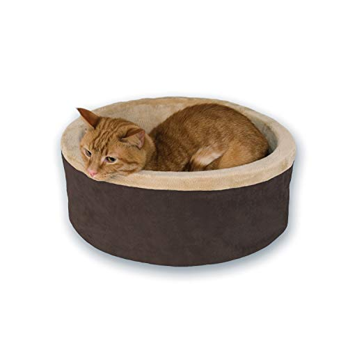 K&H 773192 Pets, Thermo Heated Bed for Cats and Dogs, Bettwärmer für Hunde und Katzen, Mocha, groß, L -