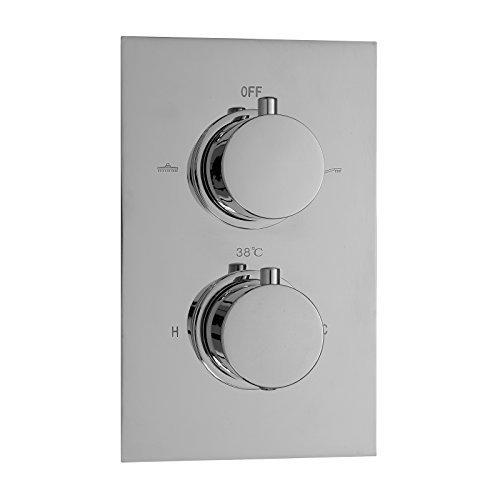 ENKI grifo mezclador válvula termostática oculta cilíndrico 2 salidas redonda