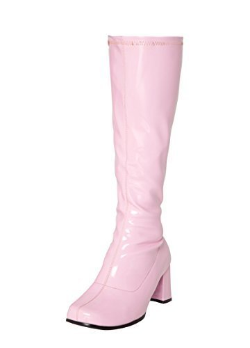 Baby Pink Knee High Go-Go Boots for Ladies. Sizes 3 to 11.