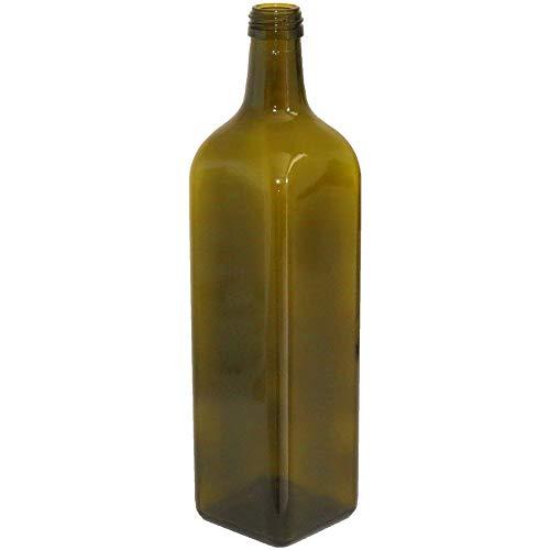 24 pz Bottiglie olio liquore marasca scura 750 ml con tappo e salvagoccia imbottigliamento