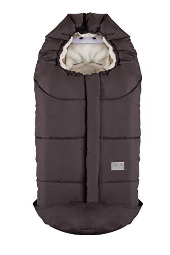 Nuvita 9205 ovetto cuccioli - sacco termico universale per tutti i tipi di ovetto, navicelle e seggiolini auto. ideale per neonati, bimbi e bambini (taupe rabbit)