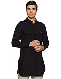 Indo Ink Men's Cotton pathan Suit Indo Western Kurta