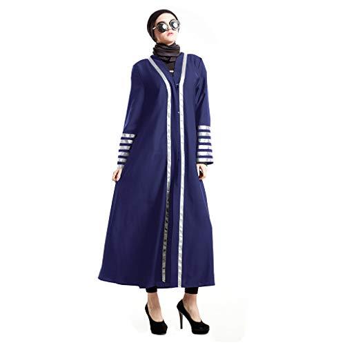 (LHWY Sommerkleid Damen Elegant Feenhaftes üBernatüRliches Moslemisches Kleid Mit Federn Versehenes Chiffonkleid Nationales Partykleid Lang Maxikleid Vintage)