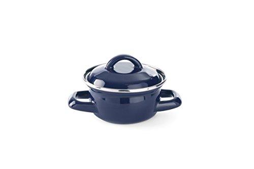 Hendi 625804 Suppen un Sossentöpfchen mit Deckel, 0.6 L, Blau