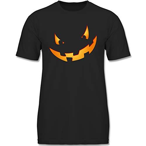 Spaß Jahre Kostüm Alt 12 - Anlässe Kinder - Kürbisgesicht klein Pumpkin - 152 (12-13 Jahre) - Schwarz - F130K - Jungen Kinder T-Shirt