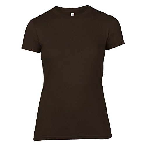 Anvil -  T-shirt - Donna Chocolate