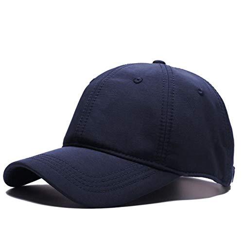 A-HXTM Cappello Cappelli da Baseball da Uomo di Grandi Dimensioni per Grandi Capi Winer Outdoor Berretti Curvi in   Velluto Antivento da Uomo Berretto Sportivo Plus Size Blu Navy in Velluto