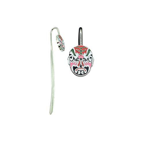 KEHUITONG Peking-Oper Facebook Bookmarks, chinesische Art-kreative Bookmarks, chinesische spezielle Geschenke, Arten sind wahlweise freigestellt Lesezeichen im chinesischen Stil, (Color : A13)