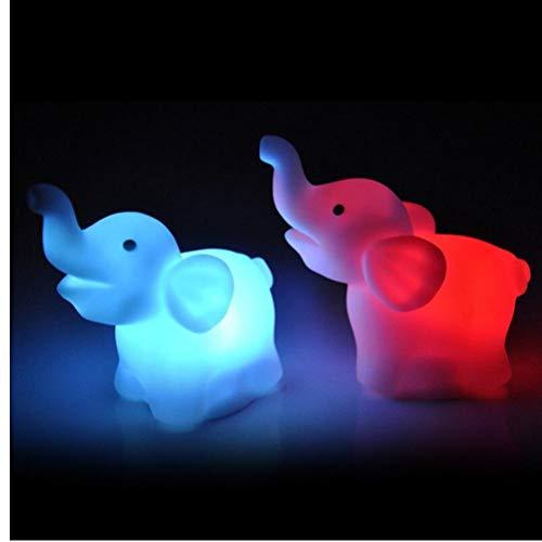 Onsinic 2pcs Elefante Cambio de Color del Banquete de Boda de la lámpara LED de luz de la Noche decoración práctica luz Decorativa