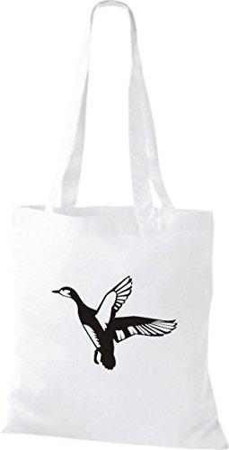 Shirtstown Pochette en tissu Animaux de l'Oie Sauvage, Duck, canard, Goose Blanc - Blanc