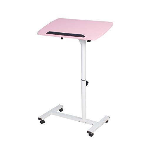XuZg-Small table Student Desk, Haushalt Studie Wohnzimmer Laptop Tisch Schlafzimmer Nachttisch Alter Mann Kind Nachttisch Esstisch (Color : Pink, Size : 54 * 32 * 62~88cm) -