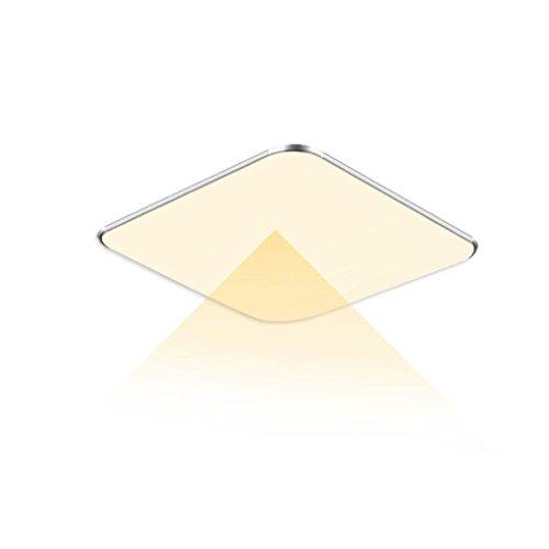 WYBAN 12W LED Radar Sensor Deckenleuchten perfekt für Wohnzimmer Schlafzimmer Flurleuchte Innenbeleuchtung mit Bewegungsmelder,Warmweiß ohne FB, 12 W
