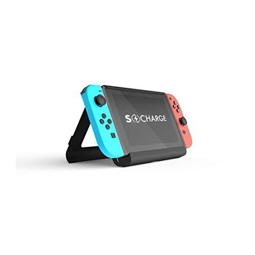 S-Charge Nintendo Switch-Batteriefach und Kick-Stand-Bundle Edition - Mit 2 Spielsteckplätzen, USB-Ladeschlitz, Hardshell-Tragetasche und 2x Displayschutzfolien