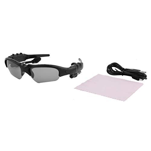 WEIWEITOE Bestnote Sonnenbrille Headset Kopfhörer Freisprecheinrichtung Anruf für iPhone Perfekte Kombination von Praktikabilität, schwarzer Rahmen graue Linse,