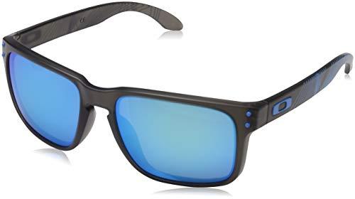 Oakley Herren Holbrook 9102F2 55 Sonnenbrille, Grau (Matte Grey Smoke Aero/Prizmsapphire),