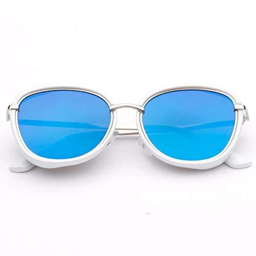 YRE Kindersonnenbrille, koreanische Version des Trend-Metallrahmens Kindersonnenbrille, Sonnenschutz hundert Jungen Mädchen Sonnenbrille, 3-8 Jahre alt,C