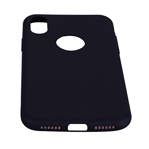 Coque iPhone X , Coque Apple iPhone 10 Etui Souple Flexible Ultra Mince Silicone TPU Housse Mode Dessin Couleur des Bonbons Motif Pour Apple iPhone X (5.8 pouces) Enveloppe Coque E-Lush Case Cover Sof Noir