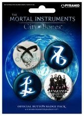 Official The Mortal Instruments City of Bones Badge Pack (Set of 4 x 38mm Knopfabzeichen)