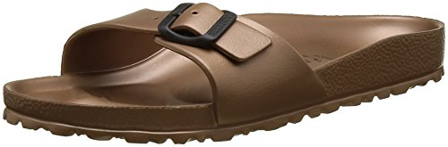 Birkenstock madrid eva, ciabatte donna, marrone (metallic copper), 37 eu