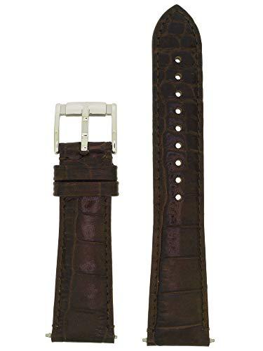 Emporio Armani Uhrenarmband LB- AR0490 Ersatzband AR 0490 Leder 22 mm