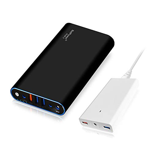 BatPower ProE 2 EX7B Power Bank Batterie Externe Batterie Portable pour Apple Macbook Pro Macbook Air Mac Retina 2006-2015 Laptop, QC 3.0 Ports USB Charge Rapide pour Tablette et Smartphone -98Wh