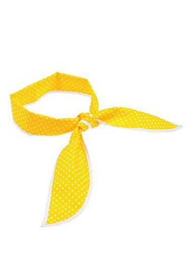 Gelbes Nickituch mit weissen Punkten als Band (ca 8 x 97 cm)