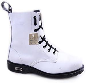 Cult Vintage Leather Boots Steel Toe mod. Bolt CL3663G8972 White EU43
