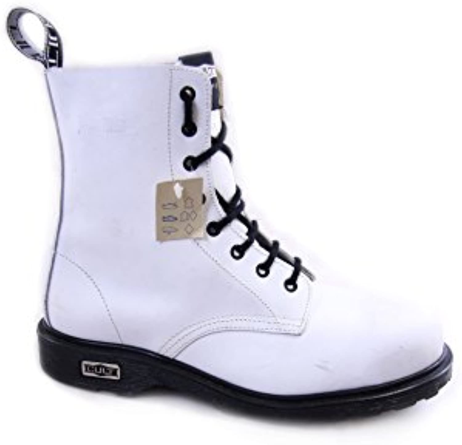 Cult Vintage Leather Boots Steel Toe mod. Bolt CL3663G8972 White EU43